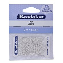 Beadalon Figaro Chain, Silver-Plated, 2.2mm