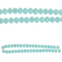 Bead Gallery Faceted Glass Beads, Blue