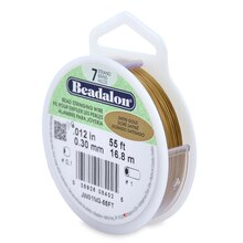 Beadalon Bead Stringing Wire, Satin Gold