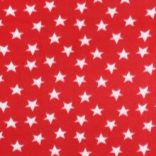 Red & White Stars Fleece