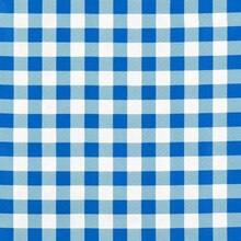 "Blue 7/8"" Gingham Oilcloth"