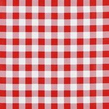 "Red 7/8"" Gingham Oilcloth"
