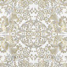 Gold/White Paradise Lace Oilcloth