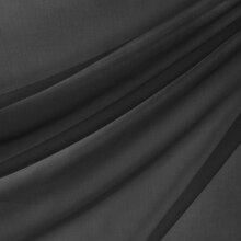 118 Inch Black Voile
