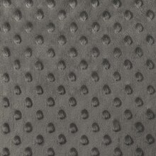 Charcoal Gray Minky Dot