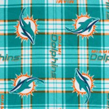 Miami Dolphins Plaid NFL Fleece