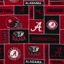 Alabama Crimson Tide Allover NCAA Fleece
