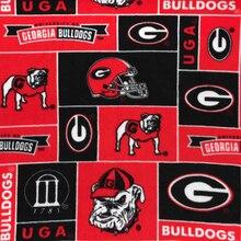 Georgia Bulldogs Allover NCAA Fleece