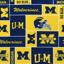 Michigan Wolverines Allover NCAA Fleece
