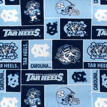 North Carolina Tarheels Allover NCAA Fleece