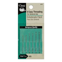 6 Easy Threading Hand Needles - Size 4/8