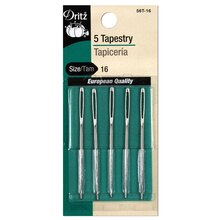 5 Tapestry Hand Needles - Size 16