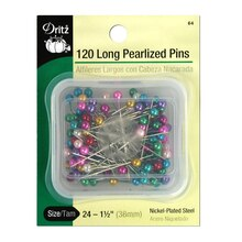 120 Long Pearlized Pins, Size 24
