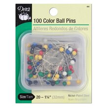 100 Color Ball Point Pins, Size 20