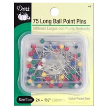 75 Long Ball Point Pins, Size 24