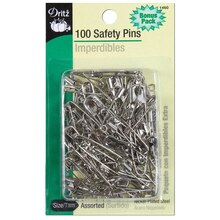 100 Assorted Safety Pins, Size 00/1/2/3