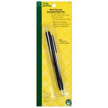 Fine Line Permanent Fabric Pen - Black