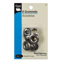 8 Nickel Plated Grommets - 3/8""