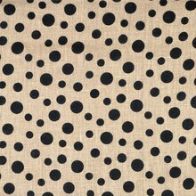 Scattered Dot Printed Burlap