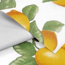 White Lemons Flannel Backed Vinyl