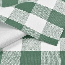 Green Chess Check Flannel Backed Vinyl