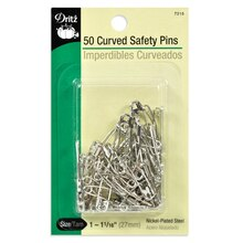 50 Curved Safety Pins, Size 1