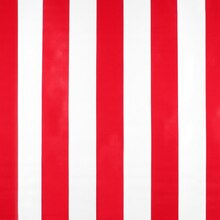 Red Wide Stripes Oilcloth