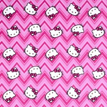 Sanrio Hello Kitty Chevron Toss Flannel