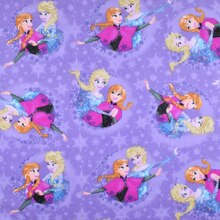 Disney Frozen Sisters Ice Skating Snowflake Badge Fleece