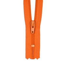 "YKK 7"" Flame Orange #3 Closed End Zipper"