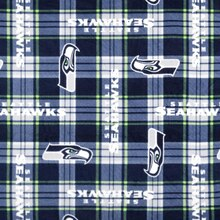 Seattle Seahawks Plaid NFL Fleece