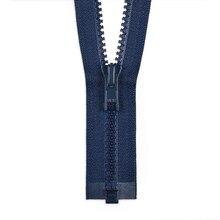 "YKK 36"" Crayon Blue #5 Plastic Vislon Open End Zipper"