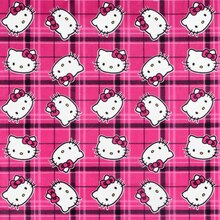 Sanrio Hello Kitty Plaid Toss Minky