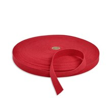 "1"" Red Cotton Webbing"