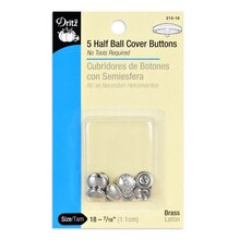 Dritz Half Ball Cover Buttons, Size 18