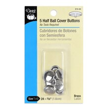 Dritz Half Ball Cover Buttons, Size 24