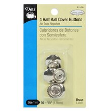 Dritz Half Ball Cover Buttons, Size 30