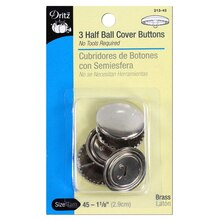 Dritz Half Ball Cover Buttons, Size 45