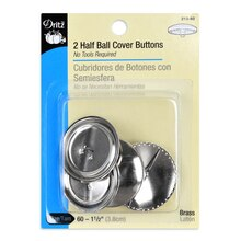 Dritz Half Ball Cover Buttons, Size 60