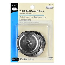 Dritz Half Ball Cover Buttons, Size 75