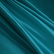 Teal Stretch Charmeuse