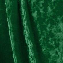 Hunter Green Crushed Stretch Velvet