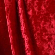 Red Crushed Stretch Velvet
