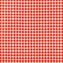"Red 1/4"" Gingham Oilcloth"