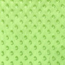 Lime Green Minky Dot