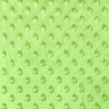 Lime Green Minky Dot