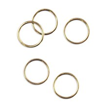 "3/8"" Brass Rings - 50 Pack"
