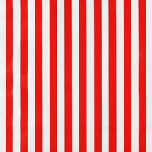 Red Stripes Oilcloth