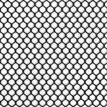 7mm Polyester Hex Mesh - Black