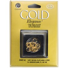 Cousin Gold Elegance Closed Ring, 14K Gold Plate